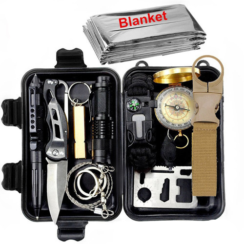 12-In-1 Camping Survival Kit